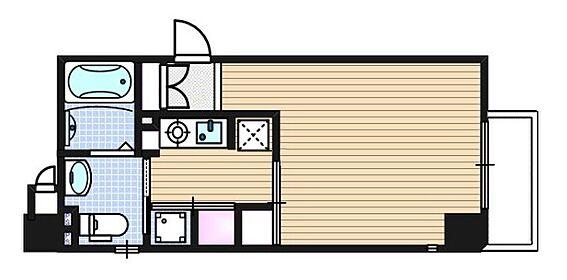 マンション(建物一部)-大阪市中央区島之内1丁目 生活動線がコンパクトにまとめられたプラン