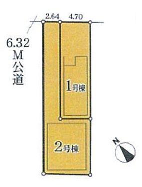 新築一戸建て-名古屋市昭和区折戸町3丁目 区画図