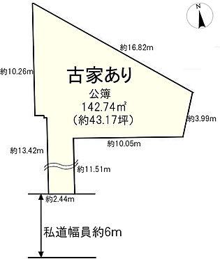 土地-大和郡山市小林町 区画図