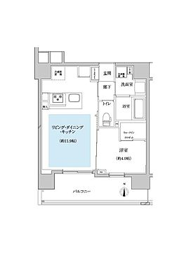 マンション(建物全部)-川口市芝新町 間口が広いプランなので、両方の部屋に明るい光が入ります。