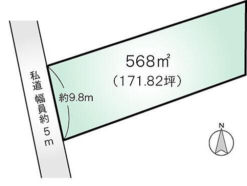 土地-北佐久郡軽井沢町大字長倉 区画図