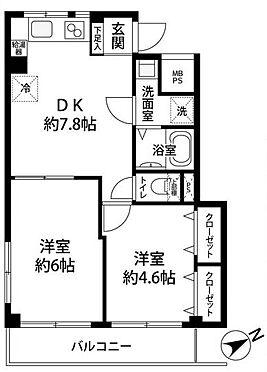 中古マンション-墨田区業平1丁目 間取り