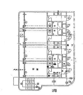 マンション(建物全部)-豊中市螢池北町2丁目 2階平面図
