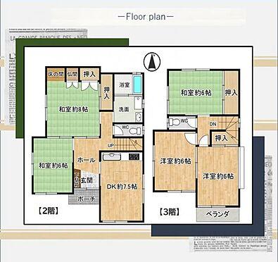 中古一戸建て-知多市八幡字新道 全居室6帖以上の広々空間。リノベーションにより間取り変更も可能です!