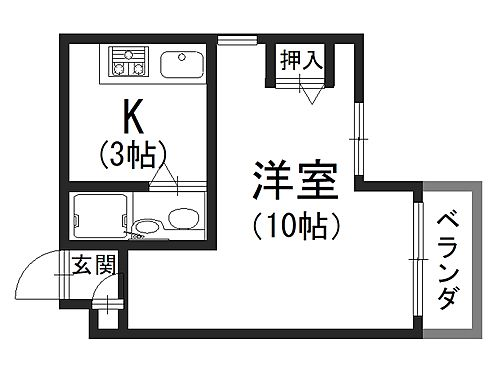 一棟マンション-京都市中京区天守町 間取りの一例