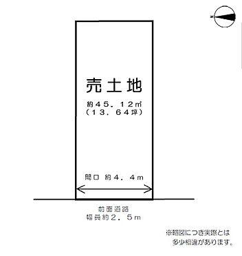土地-京都市伏見区深草下横縄町 区画図