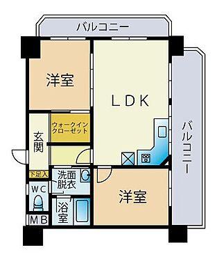 マンション(建物一部)-福岡市中央区大宮1丁目 間取り