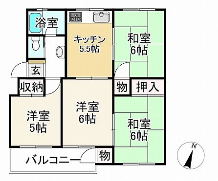 中古マンション-神戸市垂水区神陵台4丁目 間取り