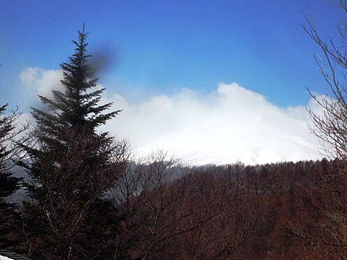 土地-北佐久郡軽井沢町大字長倉鶴溜 近隣からは四季折々の浅間山が望めます。