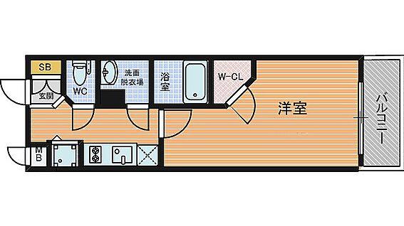 マンション(建物一部)-大阪市中央区釣鐘町2丁目 3点セパレートだから清潔感あり。他にもウォークインクローゼットがあり収納力があります。