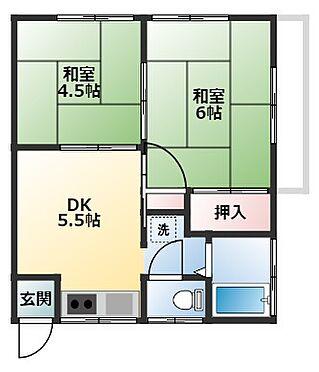 アパート-横須賀市久里浜3丁目 振り分けタイプの2DKの間取りのアパート