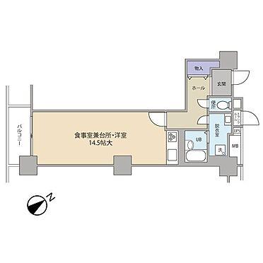中古マンション-横浜市神奈川区栄町 1DK+TR B・T別 洗面化粧台有