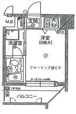 マンション(建物一部)-大阪市中央区高津3丁目 南面バルコニーの単身者向けプラン