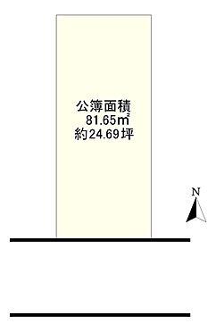 土地-大阪市東成区大今里2丁目 区画図