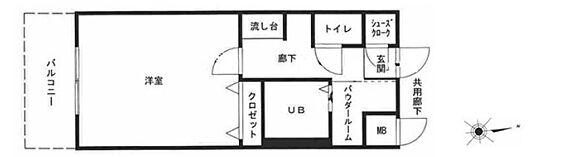 区分マンション-大阪市浪速区日本橋東3丁目 間取り