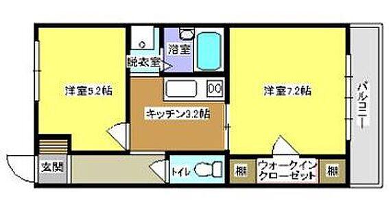 アパート-浜松市浜北区根堅 間取りは全て同タイプの2Kとなります。