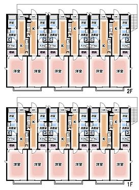 アパート-松戸市松戸新田 A棟1K×12戸