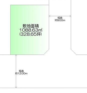 土地-仙台市泉区館4丁目 区画図
