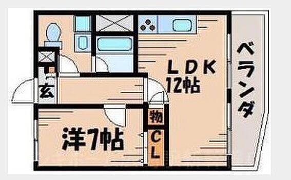 マンション(建物一部)-広島市東区牛田早稲田1丁目 間取り