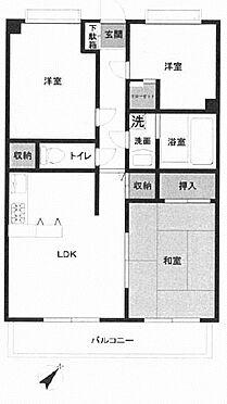 中古マンション-横浜市金沢区富岡東5丁目 間取り