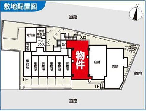 店舗(建物一部)-横浜市中区石川町3丁目 配置図