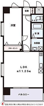 マンション(建物一部)-福岡市早良区城西1丁目 専有面積:40.05m2(壁芯)バルコニー面積:6.75m2