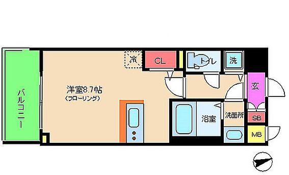 マンション(建物一部)-大阪市福島区大開2丁目 単身者向け1R