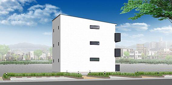 アパート-名古屋市中川区百船町 外観パース ※配色等、変更になる可能性もございます