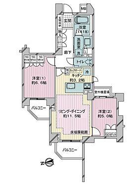区分マンション-新宿区南元町 間取り