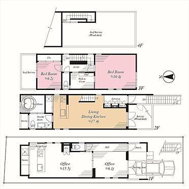 店舗付住宅(建物全部)-港区南青山4丁目 2LDKと1LDK