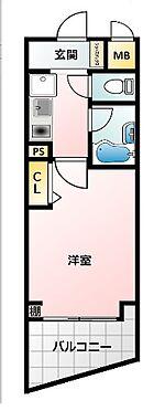 アパート-大阪市北区同心2丁目 単身者に人気のみずまわりと居室をわけたプラン