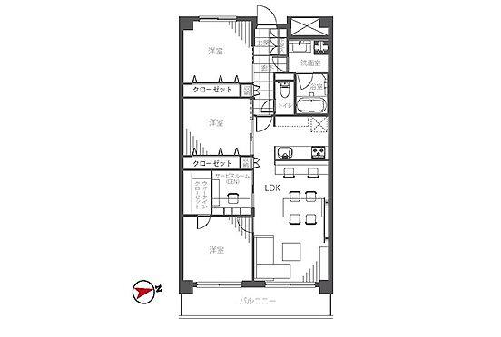 中古マンション-港区芝浦4丁目 専有面積80.40m2の3LDK