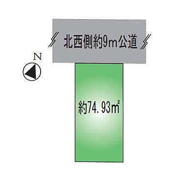 アパート-葛飾区金町2丁目 土地区画図