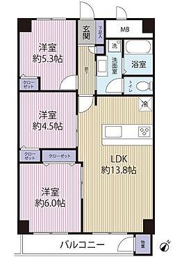 中古マンション-千葉市美浜区真砂2丁目 間取図です!