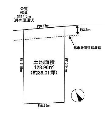 土地-武蔵野市中町2丁目 区画図
