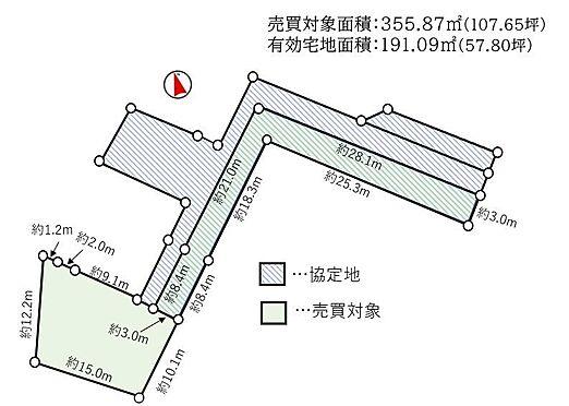 土地-名古屋市緑区桶狭間西 区割図