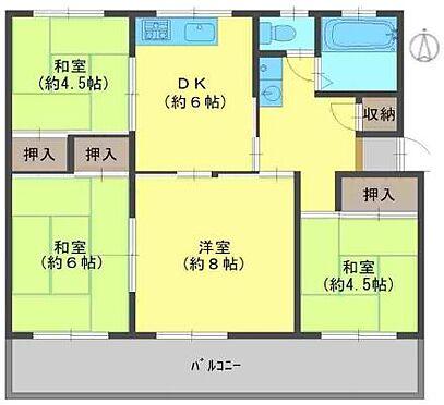 区分マンション-神戸市北区ひよどり台3丁目 間取り