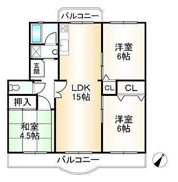 中古マンション-神戸市須磨区南落合3丁目 間取り