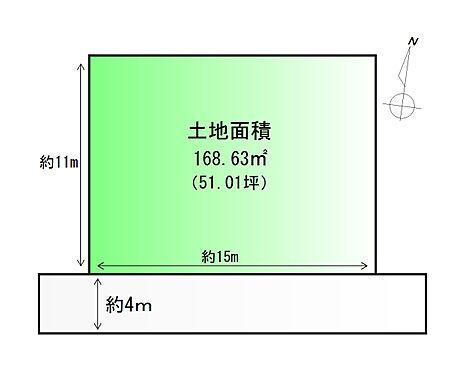 土地-石巻市新橋 区画図