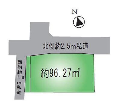 アパート-墨田区八広4丁目 敷地図