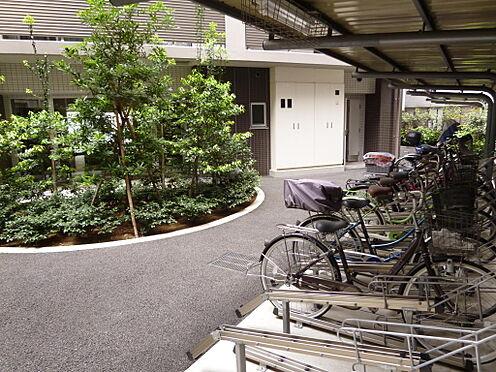 マンション(建物全部)-川口市芝新町 駐輪場の横には植栽もあり、落ち着いています。