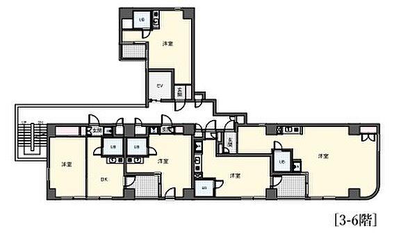 一棟マンション-江東区森下4丁目 ラレーブ森下(ウィスタリアヨシダ)3〜6階平面図