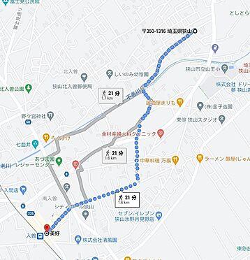 土地-狭山市大字南入曽 地図