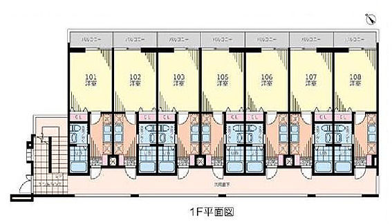 アパート-千葉市中央区末広2丁目 間取り