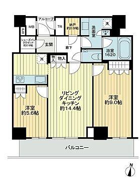 区分マンション-神戸市中央区東川崎町1丁目 間取り