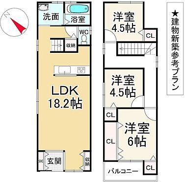 土地-京都市左京区松ケ崎西桜木町 区画図