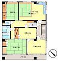 3階住居図面 賃貸中