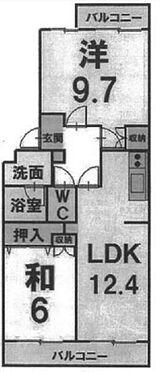 中古マンション-半田市堀崎町2丁目 間取り図 2LDK