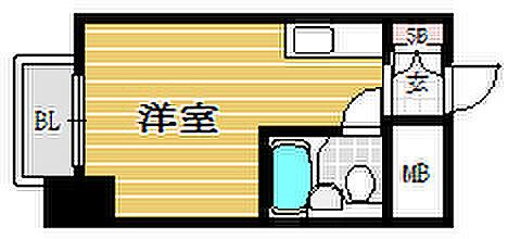 マンション(建物一部)-福岡市中央区天神4丁目 間取り
