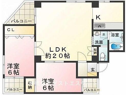 マンション(建物一部)-神戸市北区北五葉1丁目 全部屋6帖以上の広々とした2LDK